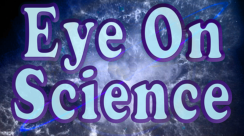 Medium eye on science logo