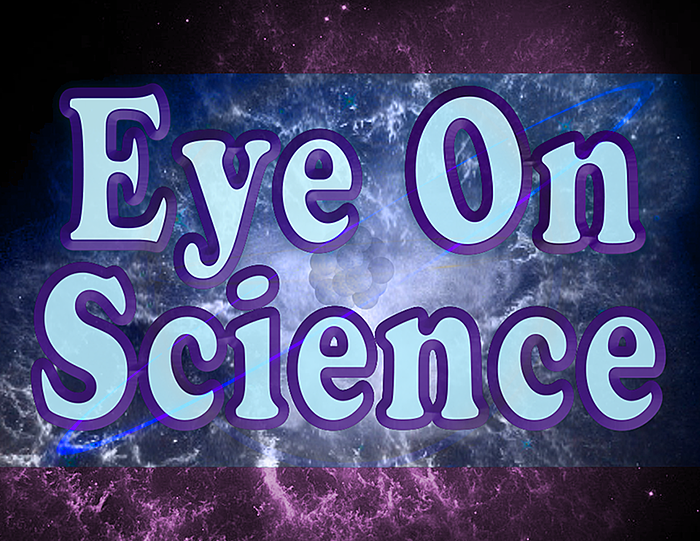 Medium eye on science logo square